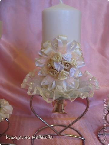 Декор предметов: Мастер-класс по декорированию свечи. Бусинки, Клей, Кружево, Ленты, Свечи 8 марта, Свадьба. Фото 4