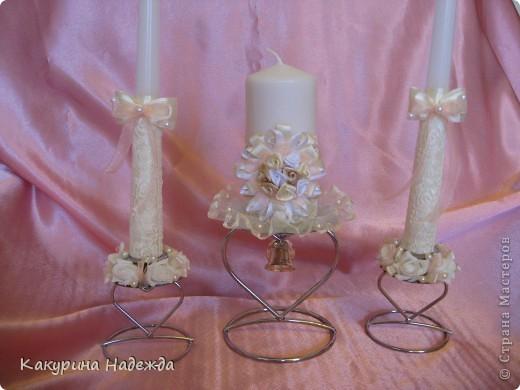 Декор предметов: Мастер-класс по декорированию свечи. Бусинки, Клей, Кружево, Ленты, Свечи 8 марта, Свадьба. Фото 1