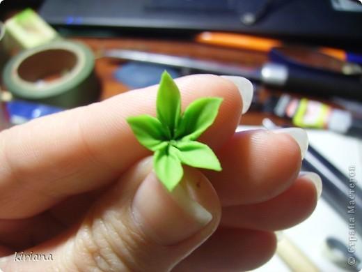 Мастер-класс, Флористика Лепка: МК сакура (часть 2:цветы ) Фарфор холодный. Фото 16