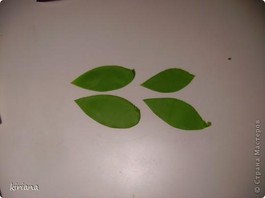 Мастер-класс, Флористика Лепка: МК сакура (часть 3: листья, тонировка, сборка) Фарфор холодный. Фото 3