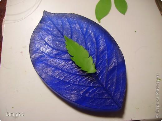 Мастер-класс, Флористика Лепка: МК сакура (часть 3: листья, тонировка, сборка) Фарфор холодный. Фото 4