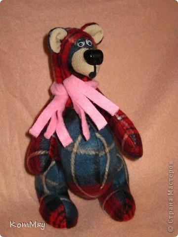 Игрушка, Мастер-класс Шитьё: Медведик в клеточку. Объявляю совместный пошив!!! Ткань. Фото 1