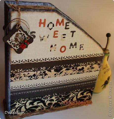 Скрапбукинг Ассамбляж: Журнальница, газетница home sweet home Бумага. Фото 1