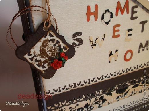 Скрапбукинг Ассамбляж: Журнальница, газетница home sweet home Бумага. Фото 3