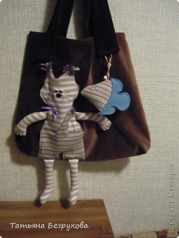 """Гардероб Шитьё: сумка """"Кот Матроскин"""".. Любителям животных.. Ткань. Фото 1"""