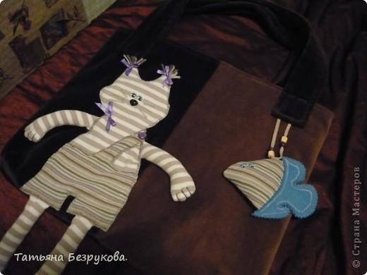"""Гардероб Шитьё: сумка """"Кот Матроскин"""".. Любителям животных.. Ткань. Фото 3"""