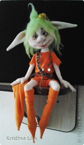 Игрушка, Куклы Шитьё: Гномик ФИЛИПП+выкройка! Ткань. Фото 1