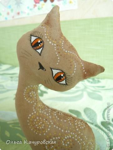 Игрушка, Мастер-класс Шитьё: А у нас теперь кошки живут! Ткань 8 марта, Валентинов день, День рождения. Фото 10
