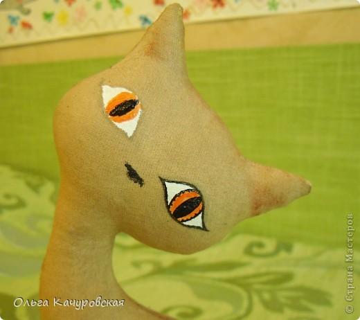 Игрушка, Мастер-класс Шитьё: А у нас теперь кошки живут! Ткань 8 марта, Валентинов день, День рождения. Фото 41