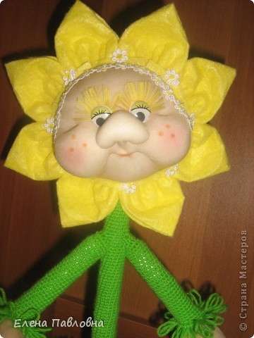 Вязание крючком цветок в горщке