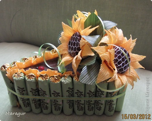 Свит-дизайн Бумагопластика: Тортик-мини Бумага гофрированная. Фото 1