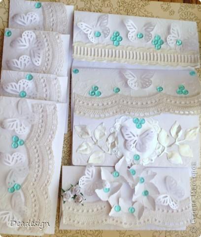 Скрапбукинг Ассамбляж: конверты Бумага, Бусинки, Картон. Фото 4