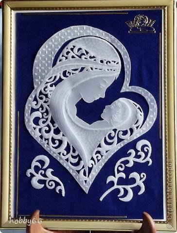 Картина, панно, рисунок Пергамано: Дети - Дар Божий... Бумага, Бумага бархатная День защиты детей. Фото 1