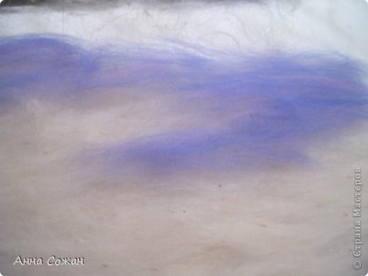 Картина, панно, Мастер-класс Валяние (фильцевание), Рисование и живопись: Синички на берёзе+МК Шерсть. Фото 4