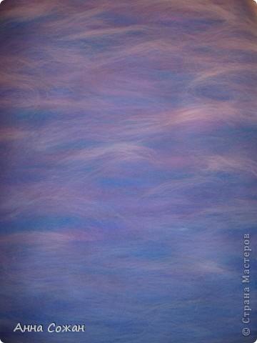 Картина, панно, Мастер-класс Валяние (фильцевание), Рисование и живопись: Синички на берёзе+МК Шерсть. Фото 5