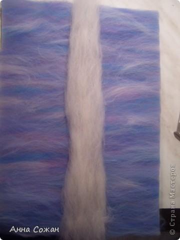 Картина, панно, Мастер-класс Валяние (фильцевание), Рисование и живопись: Синички на берёзе+МК Шерсть. Фото 8