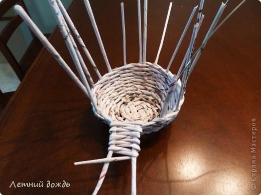 Поделка, изделие Плетение: Карета - конфетница. Маленький МК Бумага газетная Дебют. Фото 7