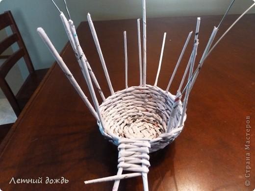 Поделка, изделие Плетение: Карета - конфетница. Маленький МК Бумага газетная Дебют. Фото 8