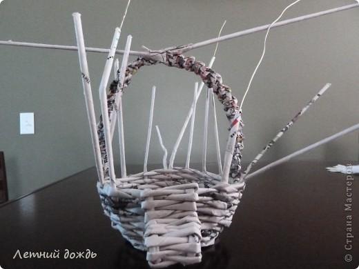 Поделка, изделие Плетение: Карета - конфетница. Маленький МК Бумага газетная Дебют. Фото 9