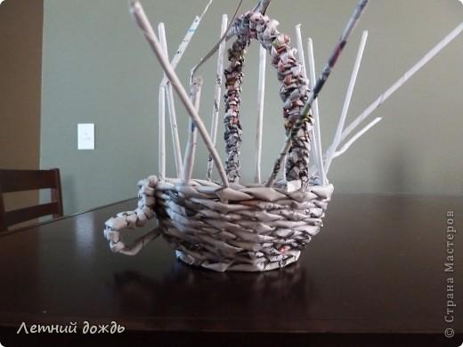 Поделка, изделие Плетение: Карета - конфетница. Маленький МК Бумага газетная Дебют. Фото 10