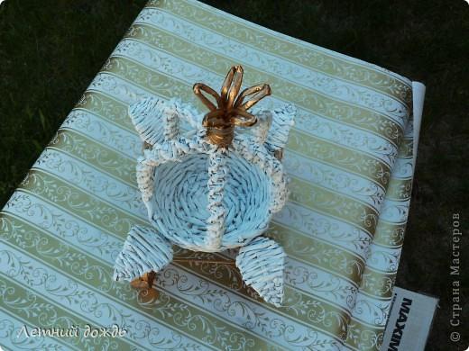 Поделка, изделие Плетение: Карета - конфетница. Маленький МК Бумага газетная Дебют. Фото 4