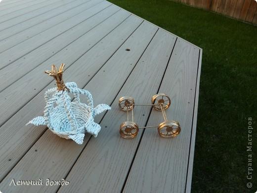 Поделка, изделие Плетение: Карета - конфетница. Маленький МК Бумага газетная Дебют. Фото 5