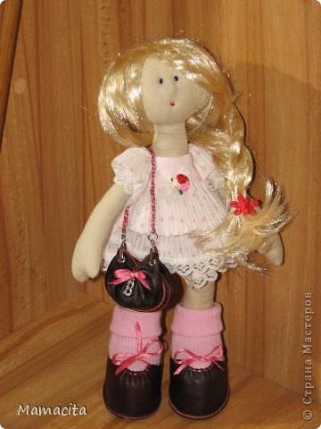 Гардероб, Мастер-класс, Поделка, изделие Шитьё: Кожаная сумочка для куклы. МК Кожа, Ленты. Фото 12