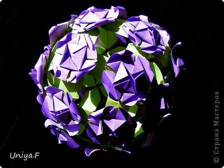 Мастер-класс Кусудама: Вouquet of lilacs. Туториал. Бумага. Фото 3