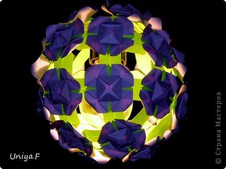 Мастер-класс Кусудама: Вouquet of lilacs. Туториал. Бумага. Фото 2
