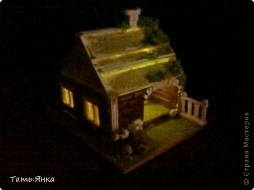 Декор предметов, Поделка, изделие Вырезание, Макет, Моделирование: домик-ночник Опилки крашеные, Пенопласт, Поролон Отдых. Фото 5