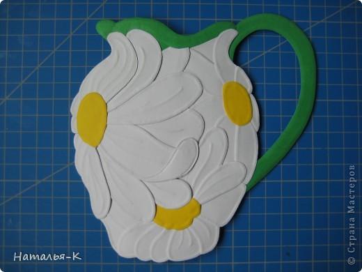 Мастер-класс Бумагопластика: Ромашковая ваза. Картон. Фото 1