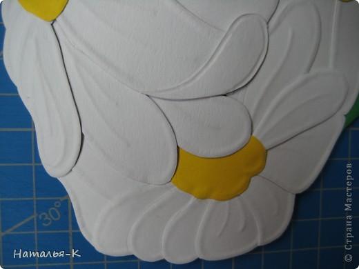 Мастер-класс Бумагопластика: Ромашковая ваза. Картон. Фото 3