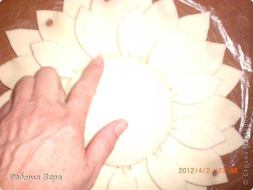 Мастер-класс Лепка: МК подсолнух. Тесто соленое. Фото 20