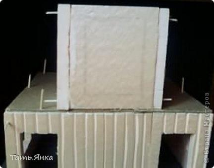 Мастер-класс, Поделка, изделие Вырезание, Макет, Моделирование: Как я делаю свои домики-ночники. Картон, Пенопласт, Поролон Отдых. Фото 15