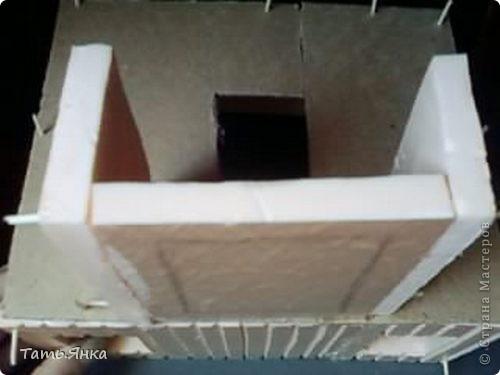 Мастер-класс, Поделка, изделие Вырезание, Макет, Моделирование: Как я делаю свои домики-ночники. Картон, Пенопласт, Поролон Отдых. Фото 16