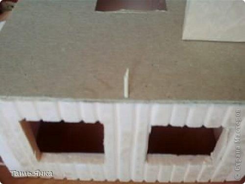 Мастер-класс, Поделка, изделие Вырезание, Макет, Моделирование: Как я делаю свои домики-ночники. Картон, Пенопласт, Поролон Отдых. Фото 18