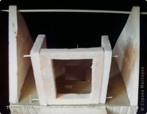 Мастер-класс, Поделка, изделие Вырезание, Макет, Моделирование: Как я делаю свои домики-ночники. Картон, Пенопласт, Поролон Отдых. Фото 19