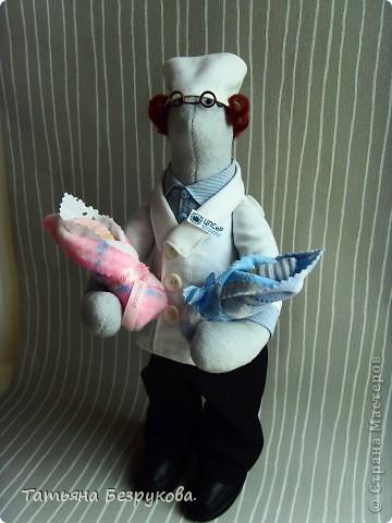 Игрушка, Куклы Шитьё: Подарок доктору. Ткань День защиты детей. Фото 8