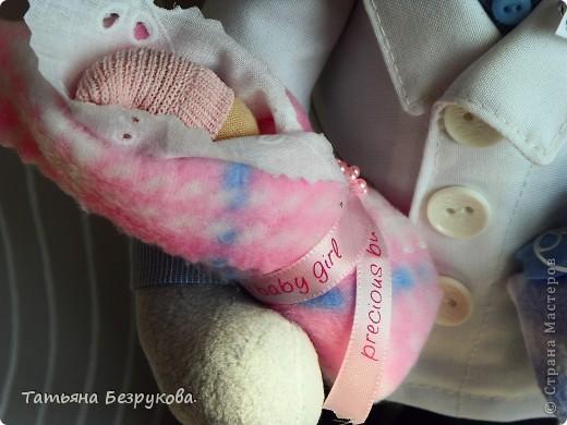 Игрушка, Куклы Шитьё: Подарок доктору. Ткань День защиты детей. Фото 2