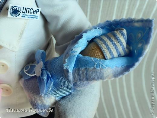 Игрушка, Куклы Шитьё: Подарок доктору. Ткань День защиты детей. Фото 3
