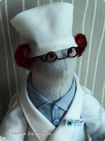 Игрушка, Куклы Шитьё: Подарок доктору. Ткань День защиты детей. Фото 4