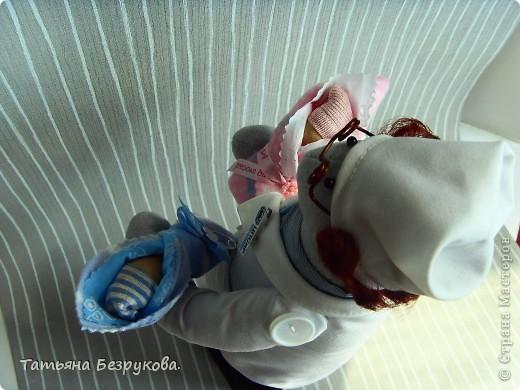 Игрушка, Куклы Шитьё: Подарок доктору. Ткань День защиты детей. Фото 6