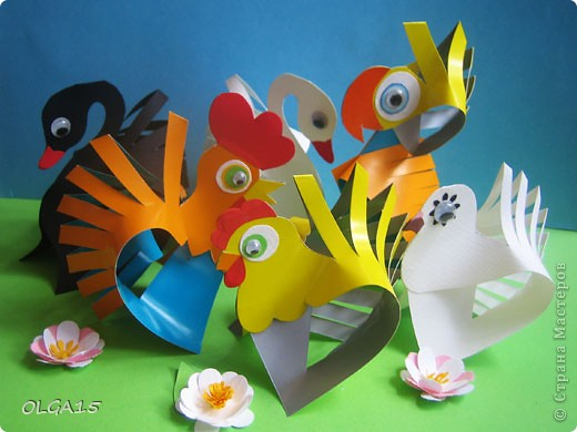 Мастер-класс Бумагопластика: Бумажные птички. Бумага. Фото 1