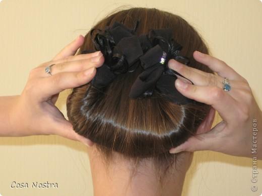 """Мастер-класс, Прическа: Прическа с заколкой д/волос Софист-о-твист """"Кокетка"""". Фото 6"""