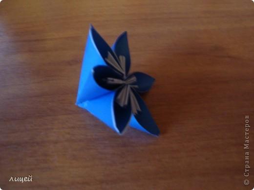 Цветок из бумаги без ножниц