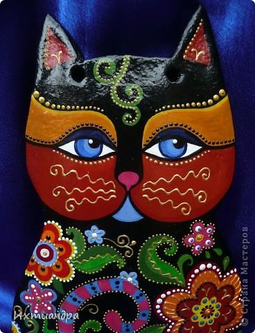Поделка, изделие Лепка, Роспись: Кот, пришедший  из сказки... Гуашь, Тесто соленое День рождения. Фото 1