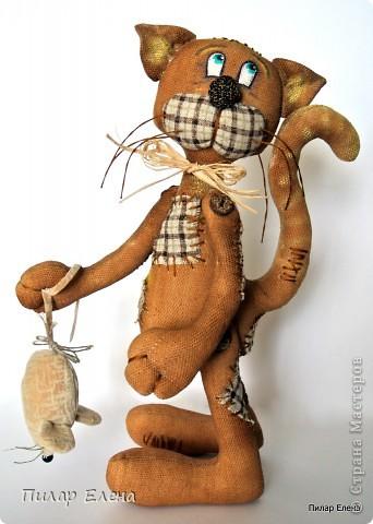 Куклы Шитьё: Кот с мышкой или так получилось Ткань День рождения. Фото 1