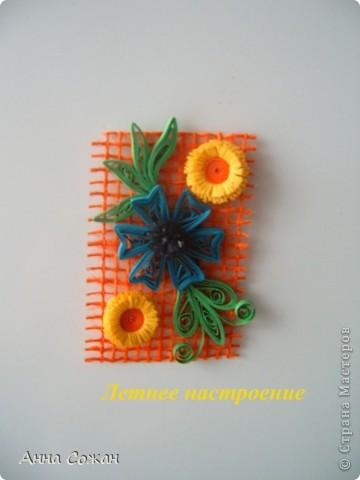 Поделка, изделие Бумагопластика, Квиллинг: Магнитики для души- Полевые цветы Бумага. Фото 11