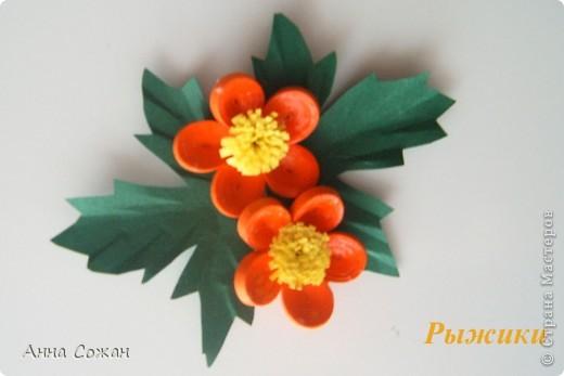 Поделка, изделие Бумагопластика, Квиллинг: Магнитики для души- Полевые цветы Бумага. Фото 4