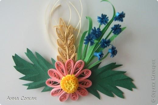 Поделка, изделие Бумагопластика, Квиллинг: Магнитики для души- Полевые цветы Бумага. Фото 6